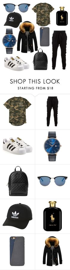 """""""boy  #1"""" by blancaxrodriguez ❤ liked on Polyvore featuring Hollister Co., Blood Brother, adidas, Kenneth Cole, Gucci, Yves Saint Laurent, adidas Originals, Polo Ralph Lauren, FOSSIL and men's fashion"""