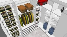 Large preview of 3D Model of closet sc