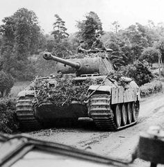 A battle tested Panther Ausf A operating during 1944