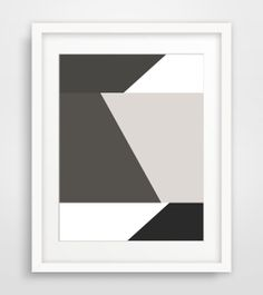 Black & White Geometric Print Modern by MelindaWoodDesigns on Etsy, $5.00