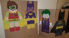 Lego batman party cutouts for picture taking. Robin, Batgirl, joker, and batman Lego Batman Party, Superhero Theme Party, Batman Birthday, Party Themes, Theme Parties, Party Ideas, 4th Birthday Parties, 8th Birthday, Birthday Ideas