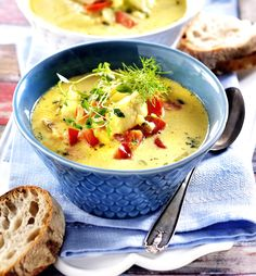 Dessert Recipes, Desserts, Chutney, Lchf, Cheeseburger Chowder, Thai Red Curry, Stew, Food And Drink, Healthy Recipes