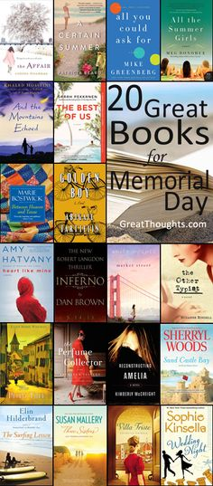 The Best New Books to Read on Memorial Day Weekend- Greatthoughts.com