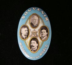 icollect247.com Online Vintage Antiques and Collectables - Woodmen Of The World Celluloid Pocket Mirror
