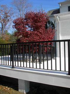 Deck Railing | Wrought Iron Deck Railing | balusterandbalustrade.com