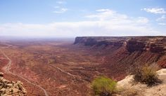 View from top of Moki Dugway Switchbacks, Cedar Mesa, San Juan County, Utah, September 30, 2011