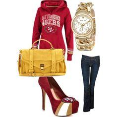 Super Bowl Fashion San Francisco 49ers  Sports Style!