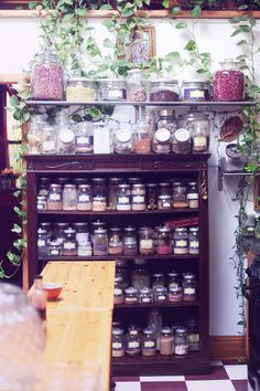Dried flowers and herbs at Temple of the Lotus Ayurvedic and yoga center