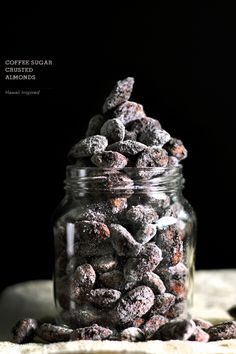 Coffee sugar crusted almonds