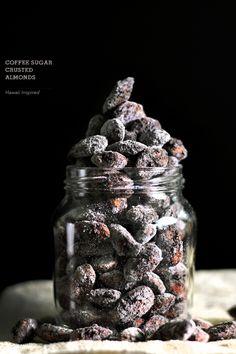 Coffee sugar crusted almonds