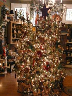 primitive christmas ornaments primitive christmas tree by lynn - Primitive Christmas Crafts