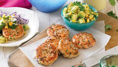 Lime fishcakes with corn salsa and red coleslaw  - Better Homes and Gardens - Yahoo!7
