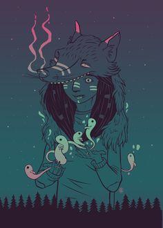 Night spirits on Behance