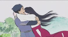 'Just a little longer.' Flying with Kaguya-hime.
