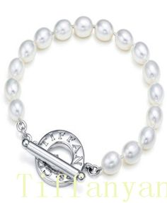 Tiffany & Co Outlet Freshwater Pearls Toggle Bracelet Love this!!