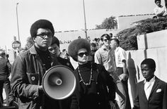 """Kathleen Cleaver - Oakland  The Black Panther party burst upon our consciousness when Bobby Seale and other Panthers marched upon the California State Capitol in Sacramento—armed with guns. This approach electrified a generation of black youth. But the Panthers did not encourage hatred. Their """"black pride"""" was not based on denigrating whites, but on showing the black community that they were in control of their own destiny.The Black Panther Party sought to build a community service to the…"""