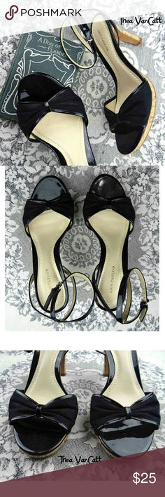 ANN TAYLOR - Bow Tie Ankle Strap Leather Heels! <3 Sweet little heels from ANN TAYLOR! <3 . BUNDLE & SAVE! * . Happy POSHing friends! <3 Ann Taylor Shoes