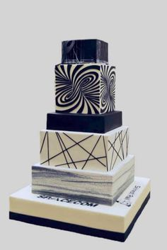 Black and white illusion cake! You will get dizzy! :) by Olga Danilova