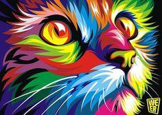 Resultado de imagem para quadros coloridos que forma animal