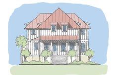 Coastal Cottage House Plans — Flatfish Island Designs — Coastal Home Plans