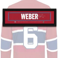 Montreal Canadiens - Shea Weber - NHL Jersey Name Print