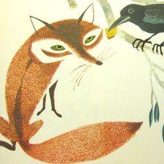Beautiful fox illustration