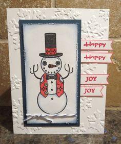 Crazy Snowman Card by Karen Ladd