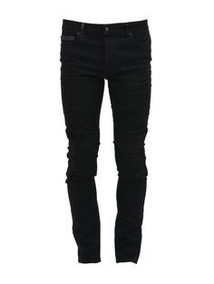 MARCELO BURLON Marcelo Burlon Destroyed Jeans Black. #marceloburlon #cloth #