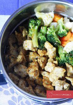 kurczak naparze zwarzywami Broccoli, Food To Make, Beef, Chicken, Vegetables, Cooking, Recipes, Rezepte, Meat