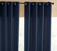Indoor/Outdoor Grommet Drape | Pottery Barn  $50  (50 x 84) polyester canvas