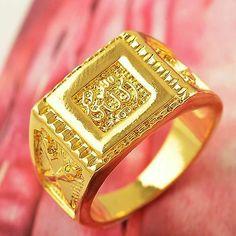 Herod - Arab Fashion Yellow Gold Filled Allah Mens Ring Size 11 T0503 | eBay