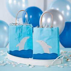 DIY Dolphin Favor Bags - OrientalTrading.com