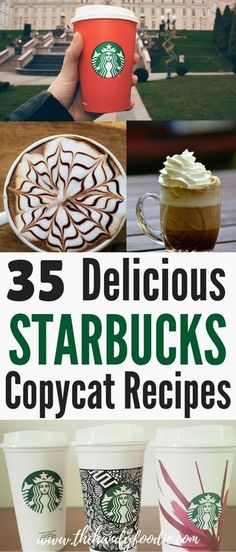 Want Starbucks coffee or drinks but don't want to pay too much? This post lists 35 of the most delicious, easy-to-make Starbucks copycat recipes or Starbucks recipes. Making your own coffee or drinks will save you money. I know it saves my wife and I a lot of money. With few ingredients that you may already have, you can make your favorite drinks without paying a lot. Coffee lover here you go. Frugality at its best. #saving #investment
