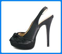 High Heels Sandalette, 14 cm Stieletto Absatz, Satin, EDEL, Gr, 38 - Sandalen für frauen (*Partner-Link)