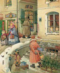 Christmas Art - Christmas in the Town  by Kestutis Kasparavicius