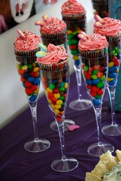 cupcake en copa
