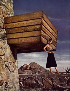 Frank Lloyd Wright Pawson House   Vogue 1942