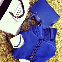 Blue mood gifts! Thank you @Herve Leger by Max Azria and @Michael Kors --------- Presentes no clima azul! Ameei! Obrigada #herveleger e #michaelkors  - @Camila Coelho- #webstagram