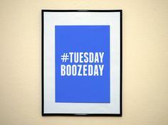 Hashtag Tuesday Boozeday Instagram Social by DillingersDesign