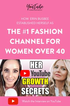 In this weeks's episode, Erin Busbee talks about how she established herself as the number 1 fashion channel for women over 40 on YouTube. She shares what started her off, and exactly how she climbed to being number 1 in fashion for women over 40, what being the channel for women of 40 has impacted her life and business and so much more. Get Youtube Subscribers, Fashion For Women Over 40, Great Videos, Positive Mindset, Instagram Tips, You Youtube, Pinterest Marketing, Social Media Tips, Lifestyle Blog