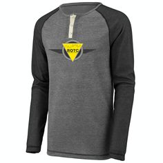 http://apparel4rotc.com/wp-content/uploads/sites/17/2016/05/ROTC-Linear-Fusion-Long-Sleeve-Henley-Yellow.png Men's Long Sleeve Linear Fusion Henley - The ROTC Men's Linear Fusion Long Sleeve Henley Product Details:  	73 cotton Linear Fusion knit  	Contemporary, slim-fit tee  	Crew neckline with contrast henley placket that sports three snaps  	Three-needle stitching on raglan sleeve, bottom hem and sleeve hems  	Straight hem http://apparel4rotc.com/?product=mens-long-sleeve-l