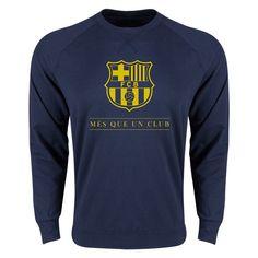 89f6ef901ed COPA DEL REY  FC Barcelona Mes Que Un Club Crewneck Fleece (Navy) World