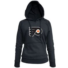 "Philadelphia Flyers Ladies Core Big Logo Fleece Pullover Hoodie - Black. ""My #NHL Wish List Sweeps"""