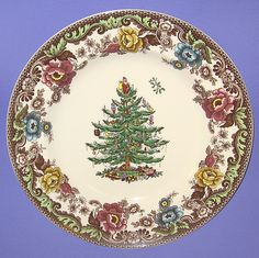Spode Christmas Tree Woodland Grove Dinner Plates
