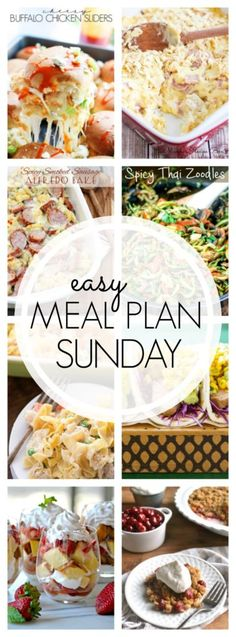 Easy Meal Plan Sunday {Week 56} - A Dash of Sanity