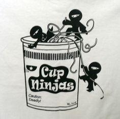 Cup Ninja adult tshirt by KiWiCuties on Etsy, $15.00