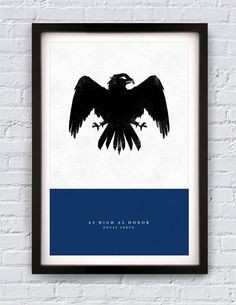 "Game of Thrones - House Arryn print 11X17"". $20.00, via Etsy."