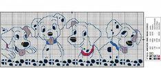 Punto croce la carica dei 101 1 - magiedifilo.it punto croce uncinetto schemi gratis hobby creativi Stitch Character, Disney Cross Stitch Patterns, Bib Pattern, Cross Stitch Baby, Cross Stitching, Kids Rugs, Quilts, Knitting, Projects