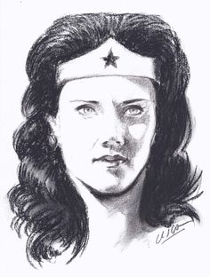 WONDER WOMAN RITRATTO A CARBONCINO by ànemos