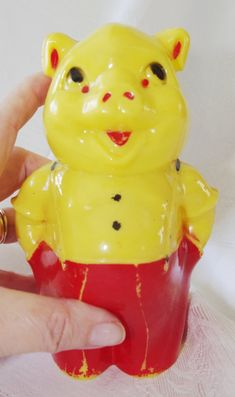 Vintage Plastic Toy Tiger Figure Hong Kong Esso Carnival Prize 1960s Nos New